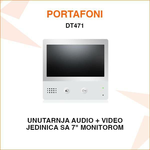 UNUTARNJA JEDINICA ZA PORTAFON SA 7'' EKRANOM DT471