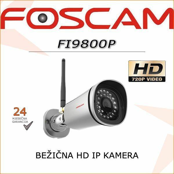 FOSCAM HD BEŽIČNA IR KAMERA FI9800P
