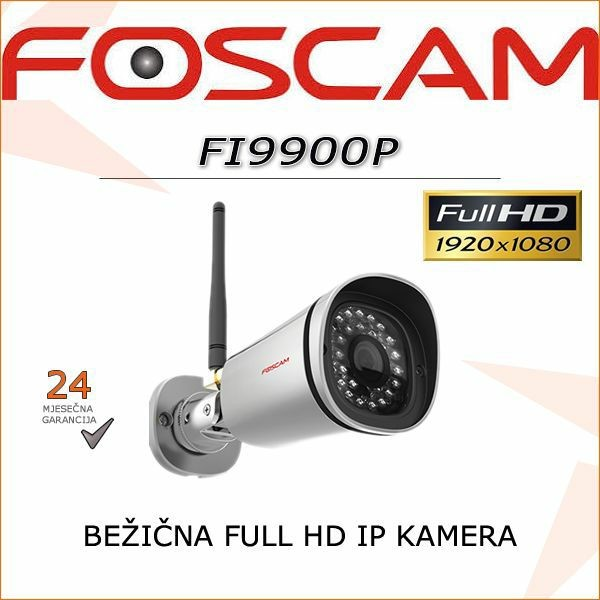FI9900P- FULL HD BEŽIČNA 1080P IR KAMERA FOSCAM