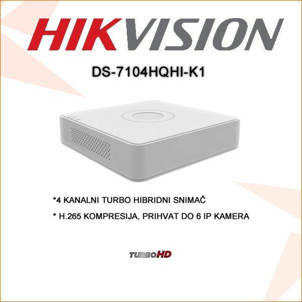 HIKVISION 4 KANALNI H.265 HIBRIDNI SNIMAČ