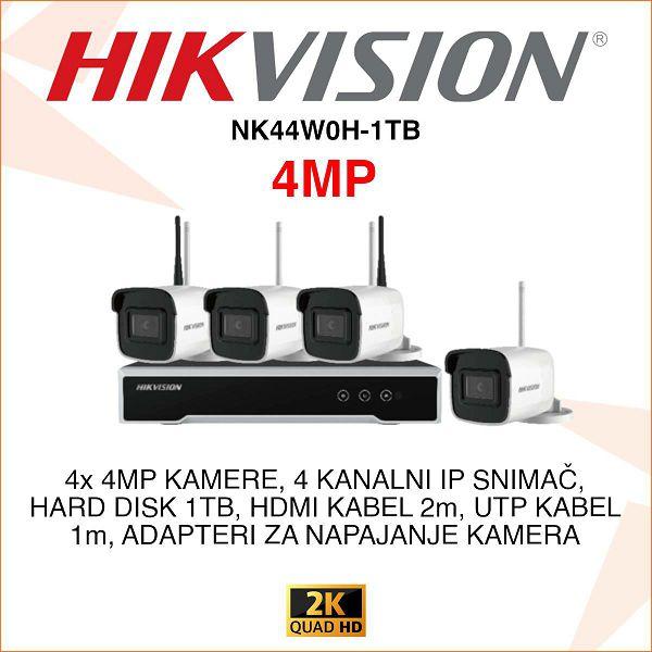 HIKVISION 4 MP BEŽIČNI KOMPLET PLUG&PLAY