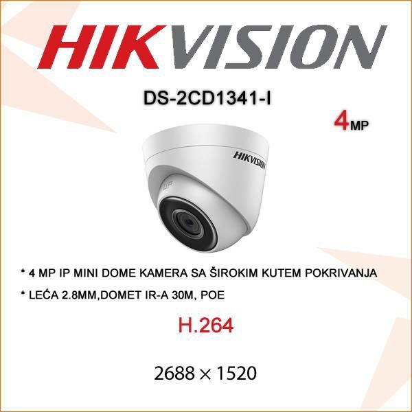 HIKVISION 4MP IP TURRET DOME KAMERA