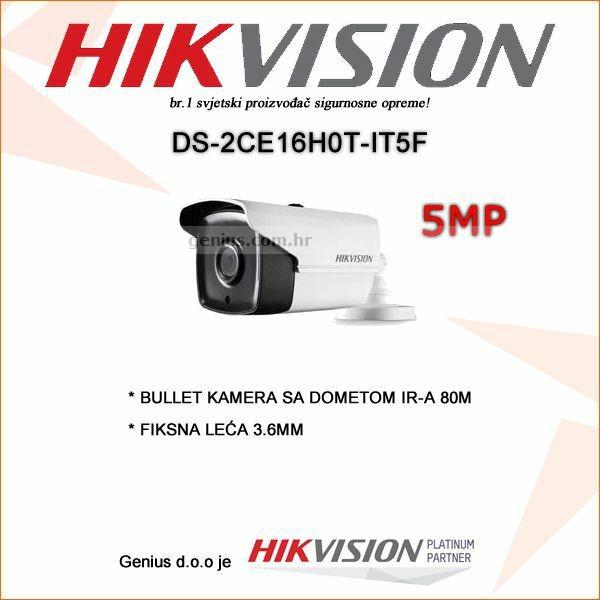 HIKVISION 5MP BULLET KAMERA SA DOMETOM IR-A 80M