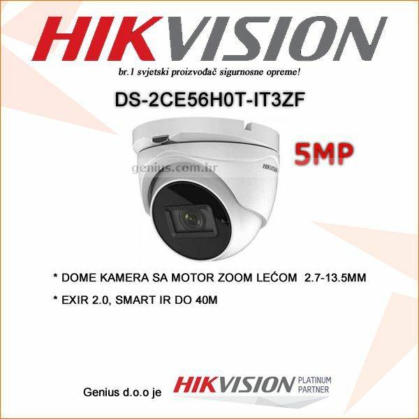 HIKVISION 5MP DOME KAMERA MOTOR ZOOM 2.7-13.5MM