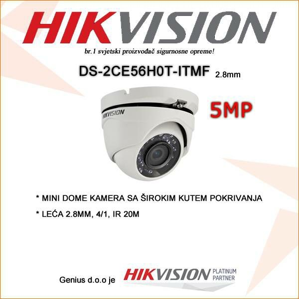 HIKVISION 5MP MINI DOME