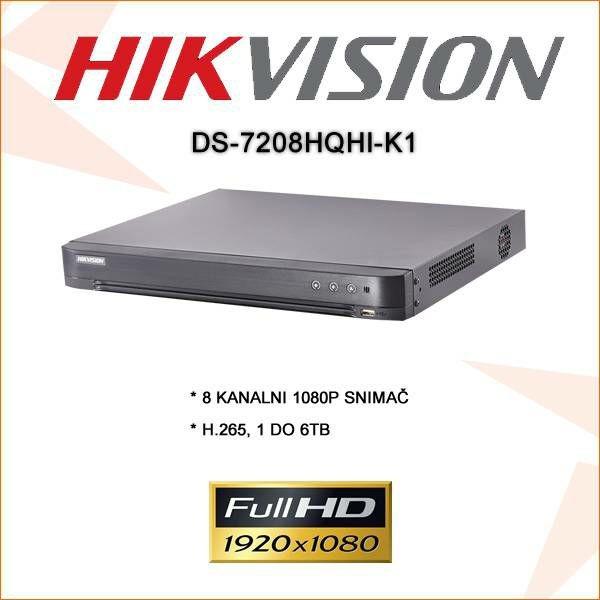 HIKVISION 8 KANALNI 2 MP 1080P SNIMAČ