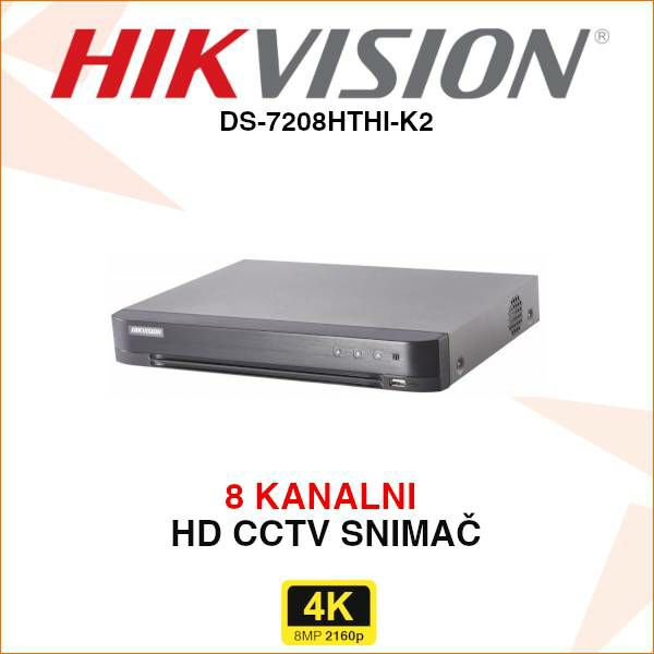 HIKVISION 8 KANALNI 8MP(4K) SNIMAČ