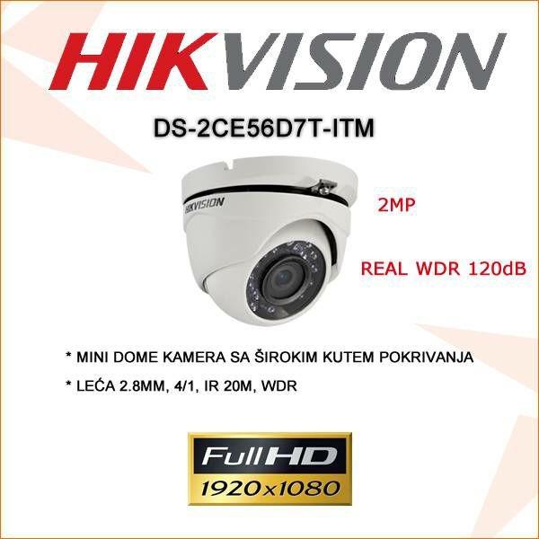 HIKVISION 2MP MINI DOME WDR KAMERA 2.8MM