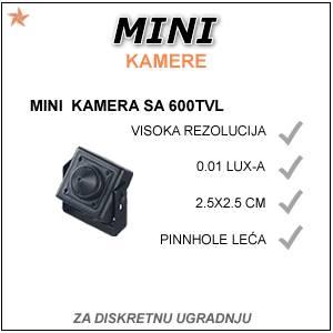 MINI SPY KAMERA - 2.5 X 2.5 cm!