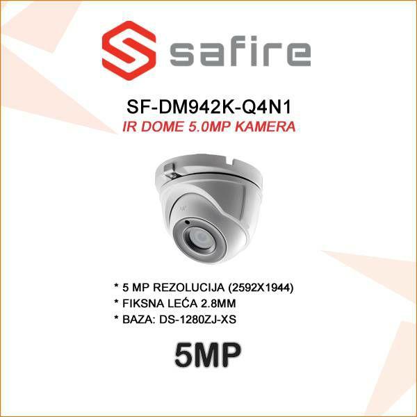 SAFIRE 5MP DOME SA LEĆOM 2.8MM