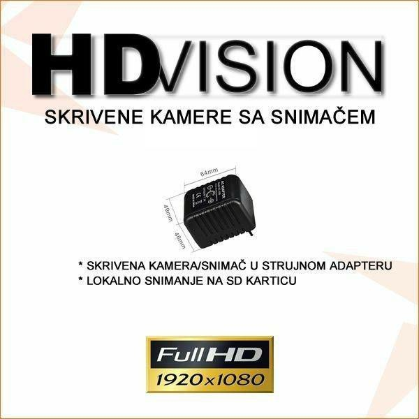 SKRIVENA KAMERA 1080P U STRUJNOM ADAPTERU