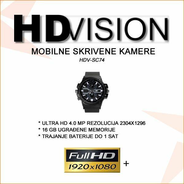 SKRIVENA KAMERA U SATU  ULTRA HD 4.0MP
