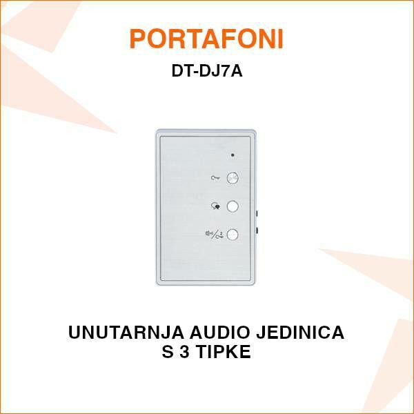 UNUTARNJA AUDIO JEDINICA ZA PORTAFON S 3 TIPKE DT-DJ7A