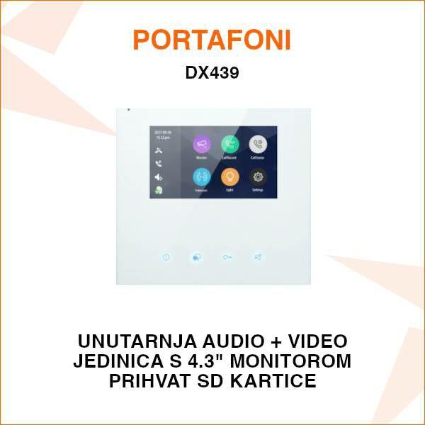 UNUTARNJA JEDINICA ZA PORTAFON SA 4.3'' EKRANOM DX439